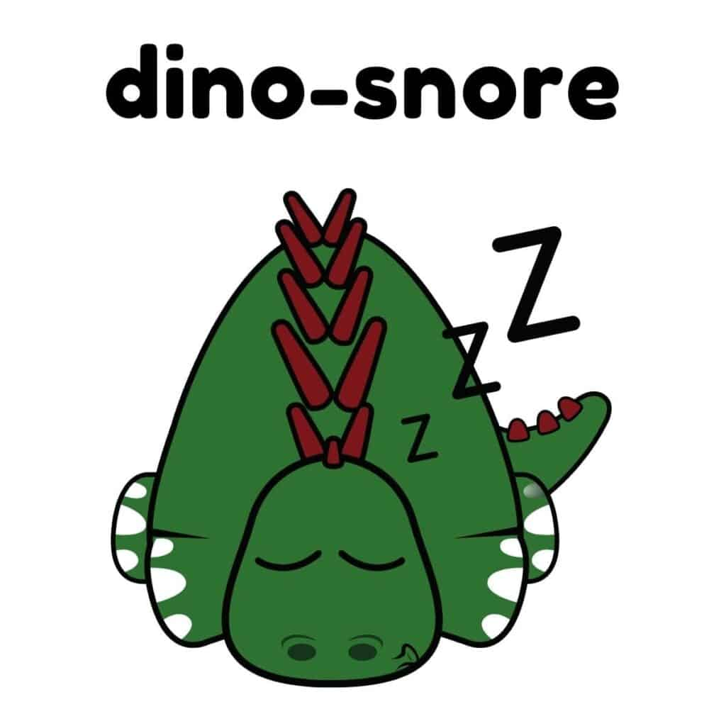 Dinosaur sleeping.